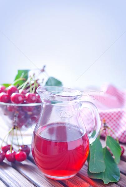 cherry juice Stock photo © tycoon
