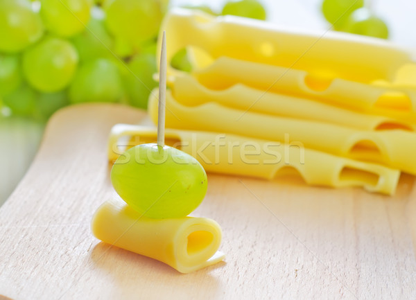 canape with drape and cheese Stock photo © tycoon