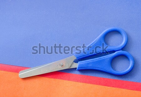 scissors and color paper Stock photo © tycoon