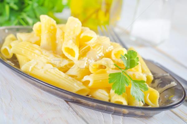 Parmezaan voedsel kaas vork koken diner Stockfoto © tycoon