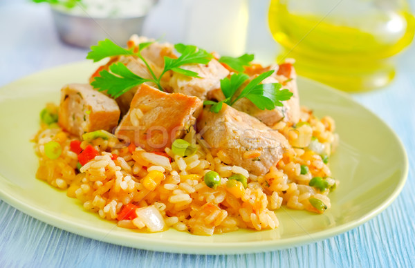 rice with meat Stock photo © tycoon