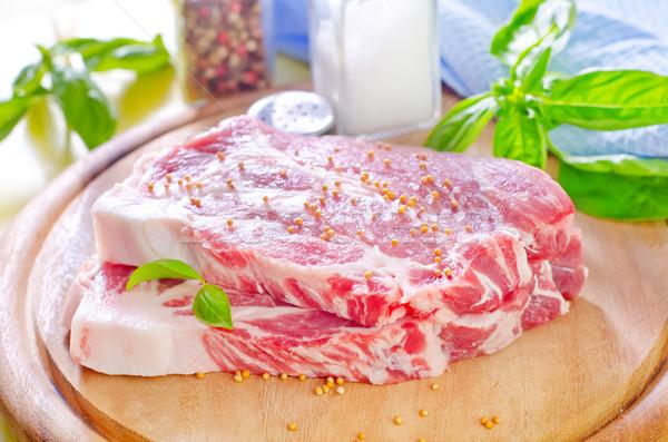 ストックフォト: 生 · 肉 · 食品 · 健康 · キッチン · 赤