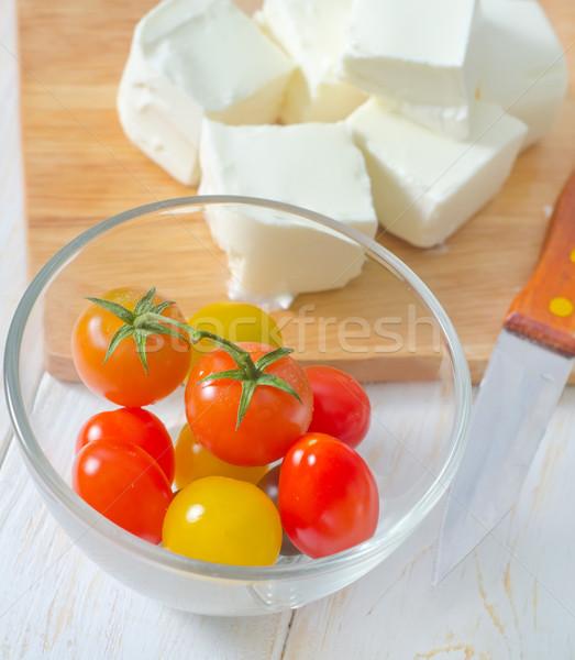 Feta tomates jardim cozinha verde ouro Foto stock © tycoon