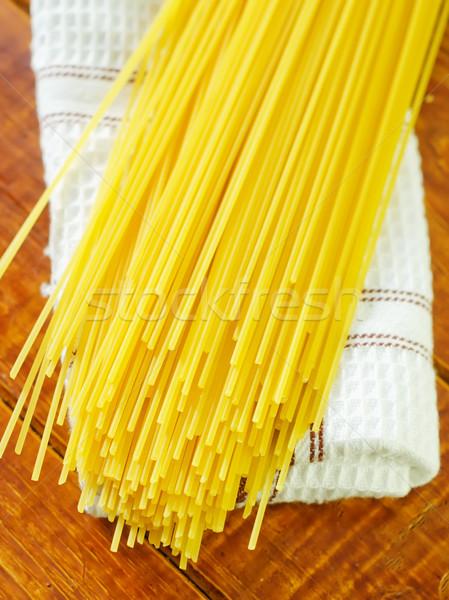 Ruw spaghetti textuur abstract natuur restaurant Stockfoto © tycoon