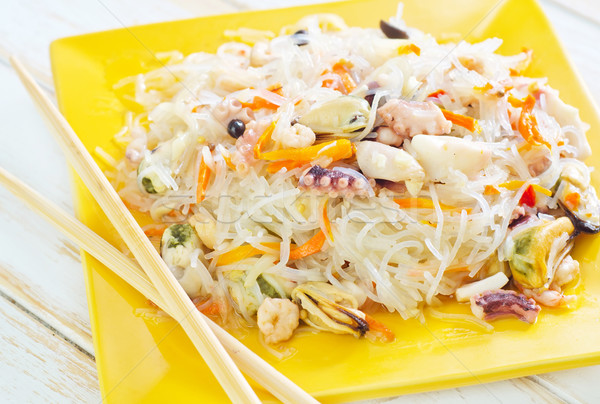 риса морепродуктов продовольствие яйцо обеда Сток-фото © tycoon