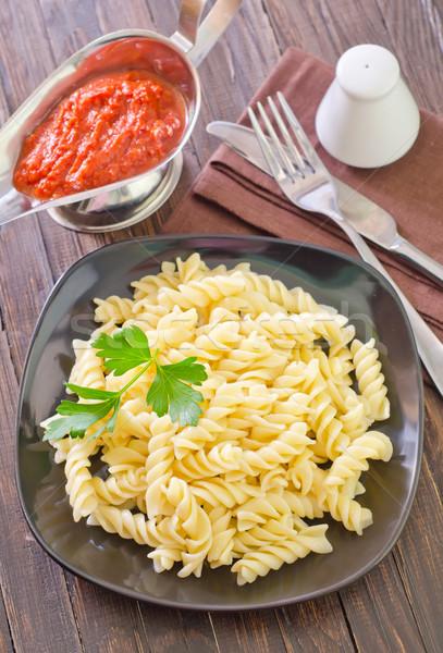 Macarrão textura comida jantar preto cor Foto stock © tycoon