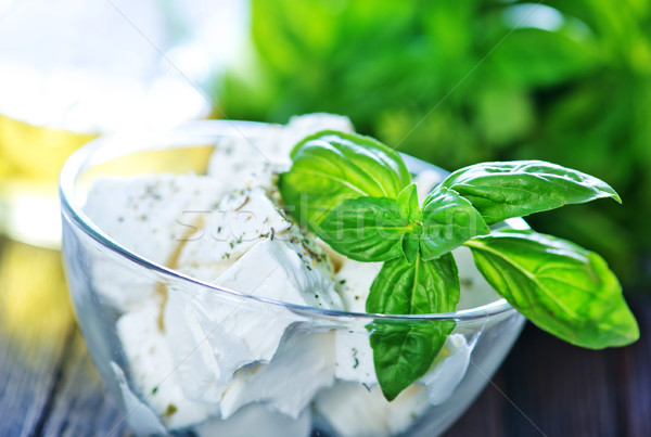 Spice vers basilicum kaas diner Stockfoto © tycoon