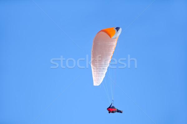 Stock fotó: égbolt · sport · narancs · felhő · szél · légy