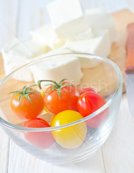 Feta paradicsom olaj fehér életstílus friss Stock fotó © tycoon