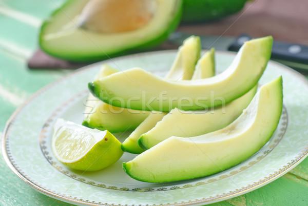 Abacate prato comida saúde cor planta Foto stock © tycoon