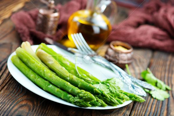 Asparagi piatto tavola estate verde Foto d'archivio © tycoon