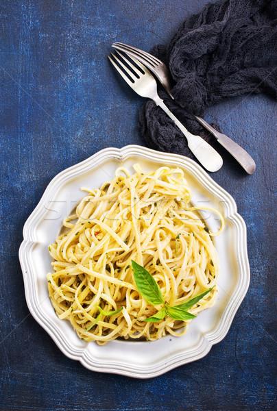 spaghetty with pesto Stock photo © tycoon