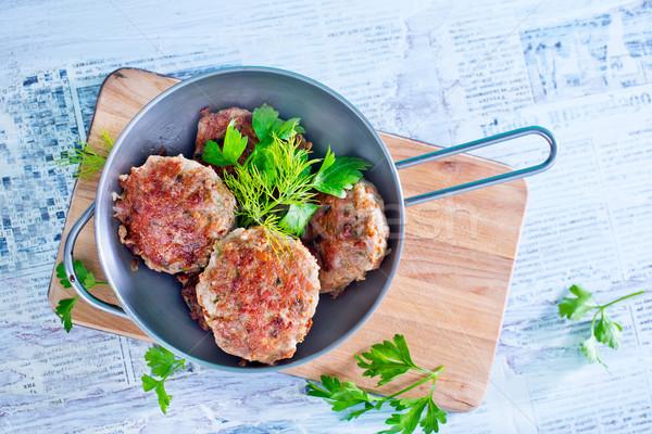 Tyúk hús kövér főzés eszik friss Stock fotó © tycoon