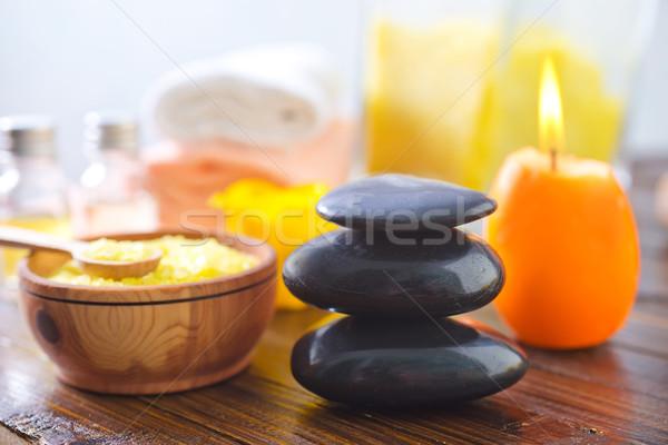 Spa lichaam olie badkamer bad cosmetische Stockfoto © tycoon