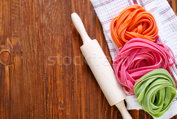 color pasta Stock photo © tycoon