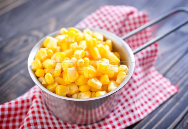 Csemegekukorica természet kukorica ősz növény eszik Stock fotó © tycoon