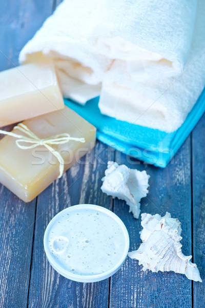Jabón cuerpo loción fondo espacio Foto stock © tycoon