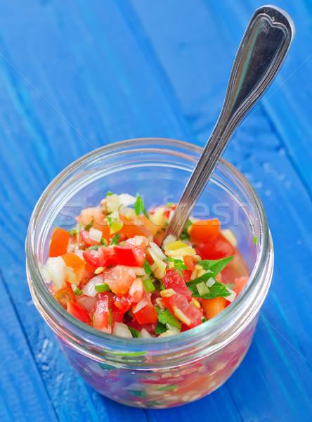 サルサ 食品 ガラス 赤 トマト ホット ストックフォト © tycoon