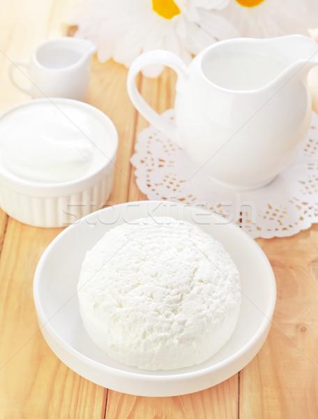 коттедж продовольствие пластина Кубок белый зерна Сток-фото © tycoon