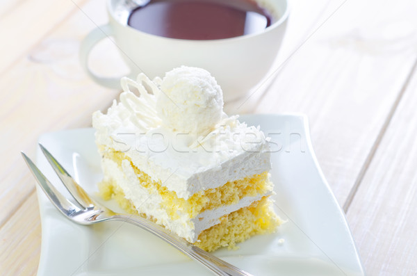 Cake with coffee Stock photo © tycoon
