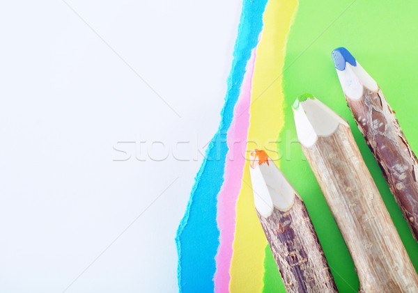 color paper and pencils Stock photo © tycoon