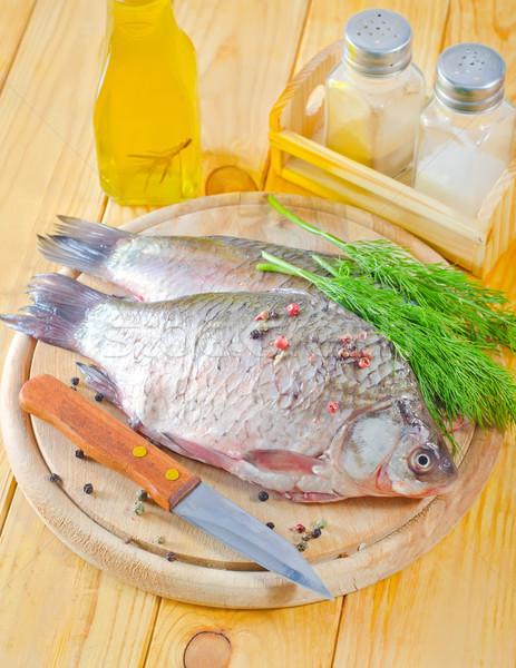 Frischen Karpfen Wasser Fisch Gesundheit grünen Stock foto © tycoon