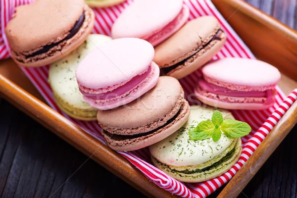 Zdjęcia stock: Cookie · tabeli · kolor · czekolady · ciasto · pomarańczowy