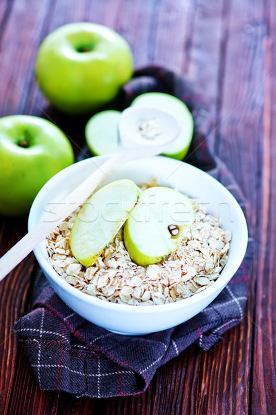 Avena crudo blanco tazón alimentos Foto stock © tycoon