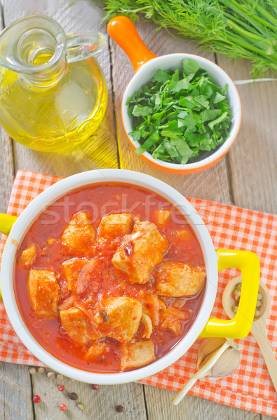 chicken with tomato sauce Stock photo © tycoon
