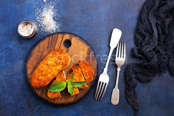 Peito de frango frango assado peito tabela comida Foto stock © tycoon