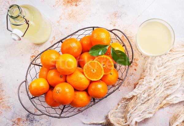 Mandarin dzsúz friss egészséges étel stock fotó Stock fotó © tycoon