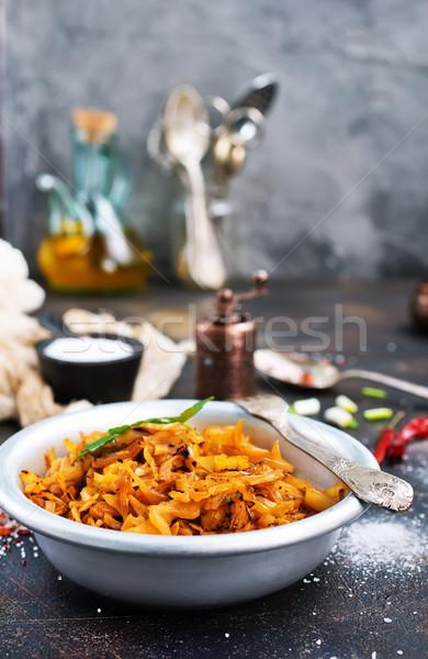 Foto stock: Frito · repolho · molho · de · tomate · estoque · foto · folha