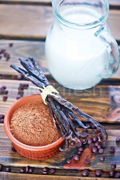 Poeder kom tabel gezondheid bar drinken Stockfoto © tycoon