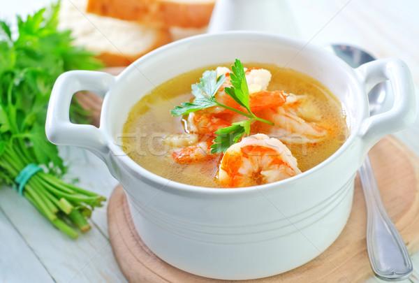 Zdjęcia stock: świeże · zupa · krewetki · żywności · czerwony · gotowania
