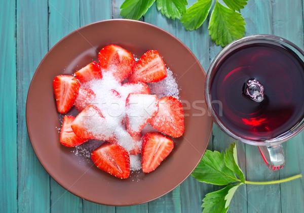 Eper cukor egészség nyár űr piros Stock fotó © tycoon