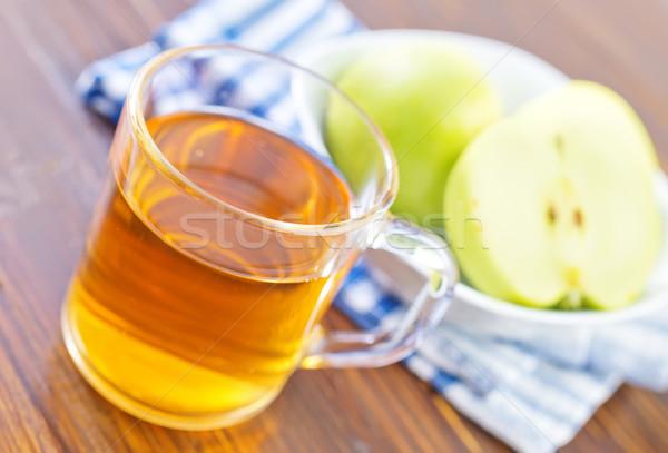 Zumo de manzana madera manzana fondo verano mesa Foto stock © tycoon