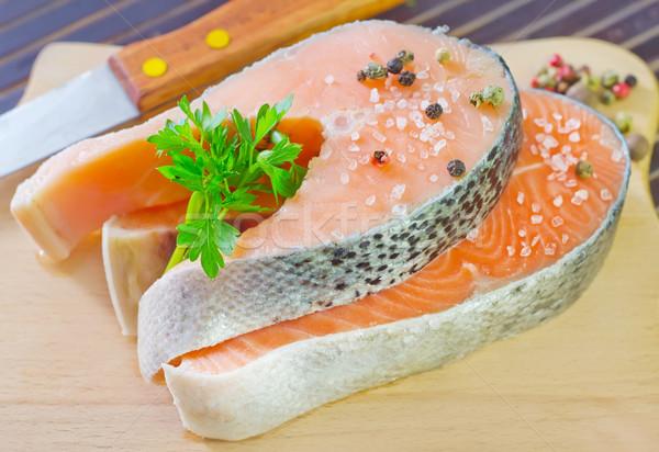 Saumon alimentaire santé fond dîner rouge Photo stock © tycoon