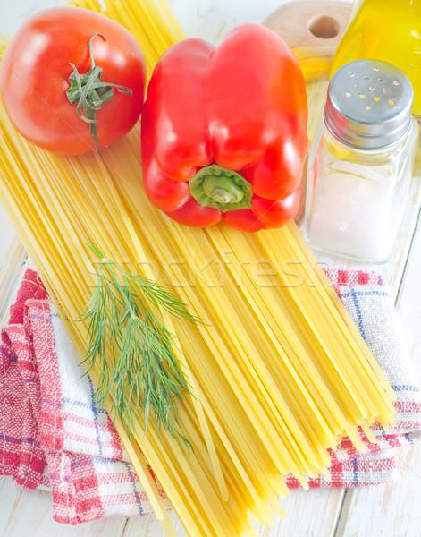 スパゲティ 食品 表 眼鏡 赤 パスタ ストックフォト © tycoon