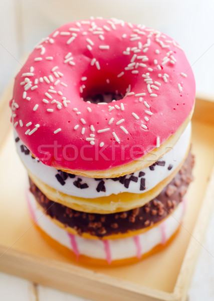 Sweet donuts, different kind from donuts Stock photo © tycoon