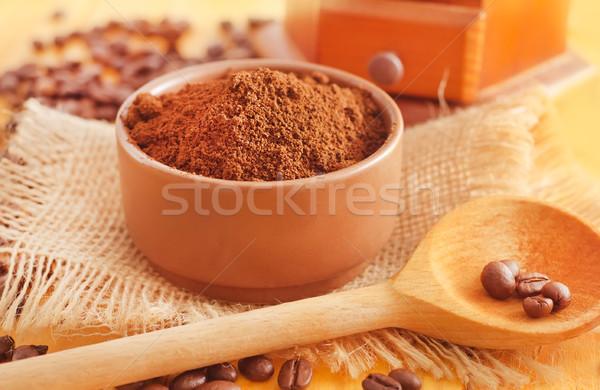 кофе текстуры аннотация энергии сельского хозяйства свежие Сток-фото © tycoon