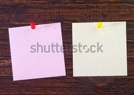 Kleur papier houten hout Blauw informatie Stockfoto © tycoon