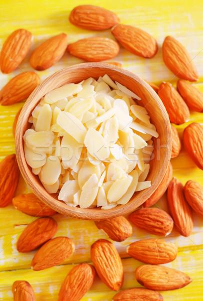 Amande alimentaire nature fruits santé fond Photo stock © tycoon