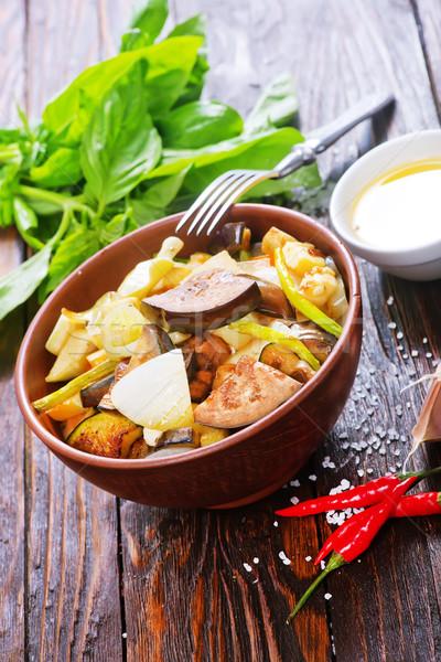 蔬菜 碗 表 奶酪 牛奶 商業照片 © tycoon