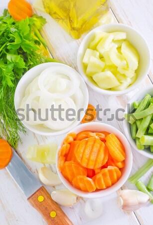 Vers boter plaat tabel star vet Stockfoto © tycoon