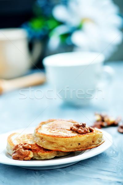 Nueces miel mesa fondo cocina Foto stock © tycoon