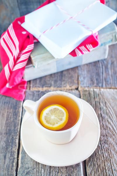 Tè limone Cup tavola rosa natura Foto d'archivio © tycoon