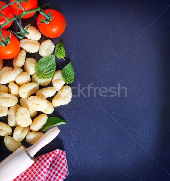 羅勒 葉 黑色 表 食品 商業照片 © tycoon