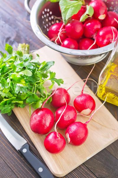 Retek tavasz étel természet levél növény Stock fotó © tycoon