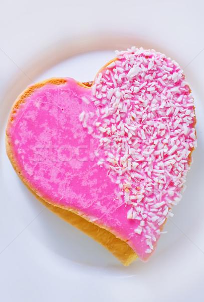 Cookie alimentos corazón invierno rojo Navidad Foto stock © tycoon