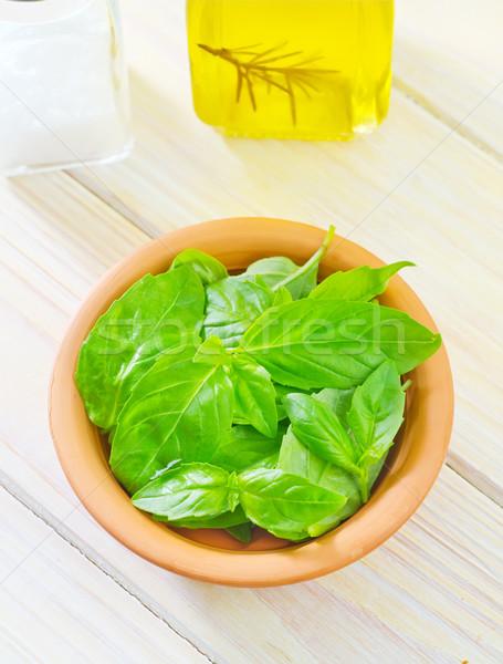 Сток-фото: свежие · базилик · продовольствие · лист · саду · здоровья